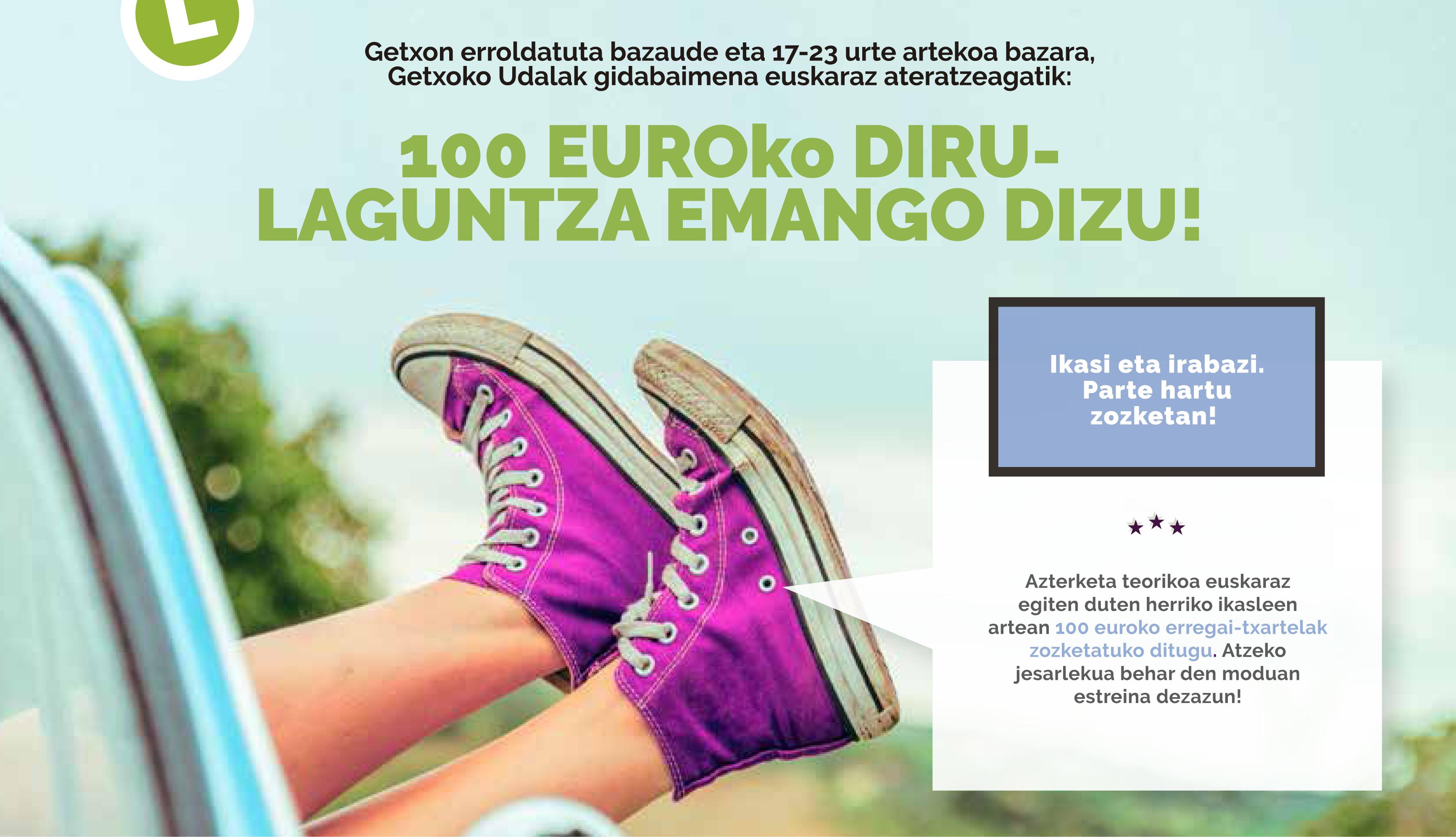 100€ por sacarte el carnet teórico en euskera